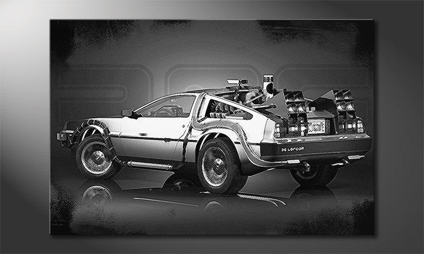 Das stylische Wandbild DeLorean