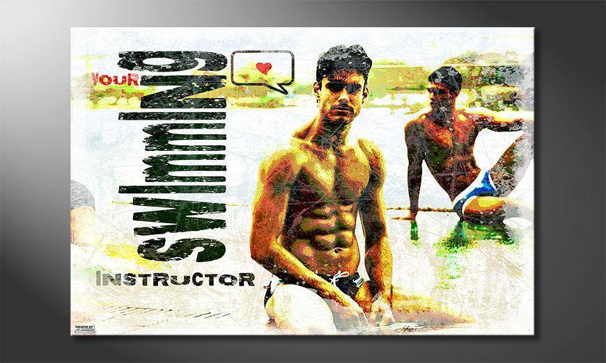 Unser erotisches Wandbild Swimming Instructor