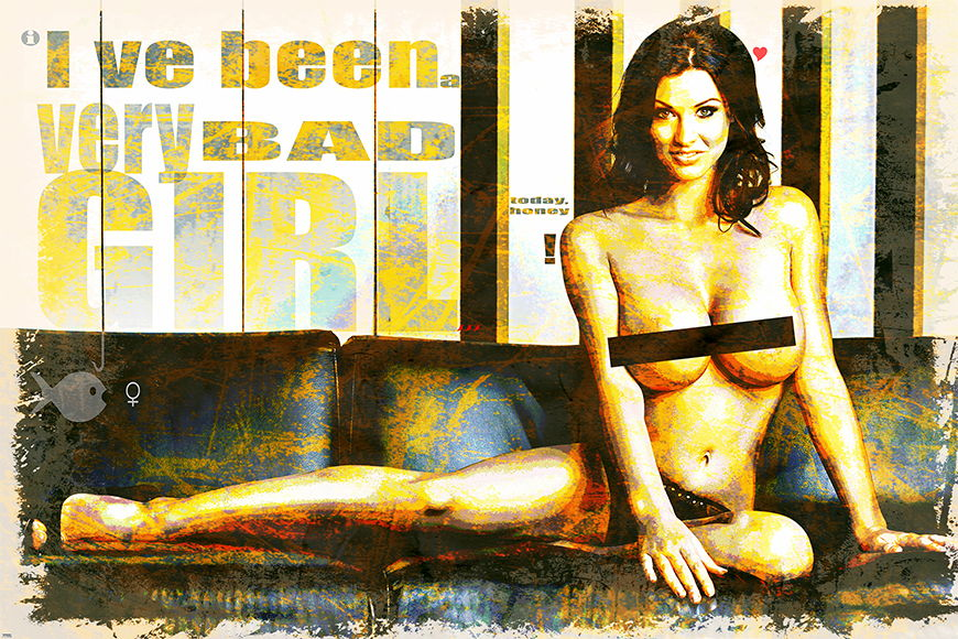 Erotische Tapete Bad Girl ab 120x80cm