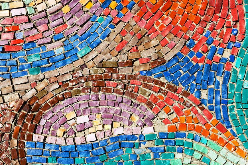 Fototapete Farbenfrohes Mosaik