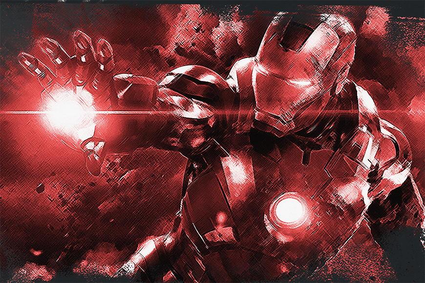 Vlies Fototapete Iron Man in S bis XXL