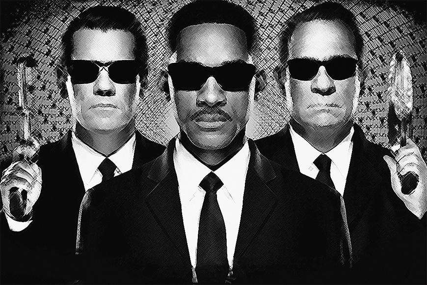 Vlies Fototapete Men in Black ab 120x80cm