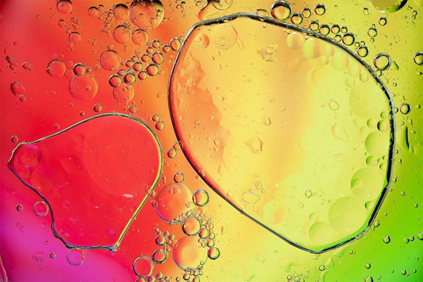 Vlies Fototapete Rainbowdrops in S bis XXL
