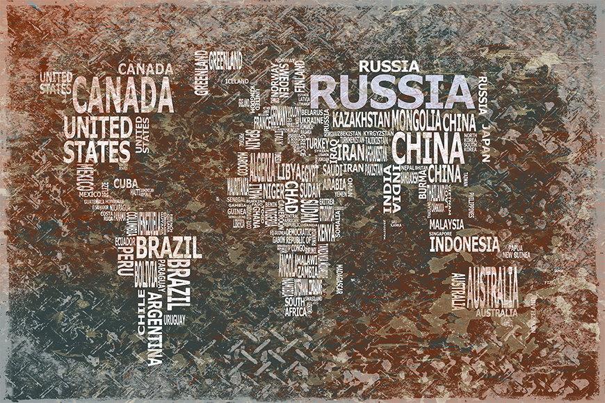 Vlies Fototapete Weltkarte 8 ab 120x80cm