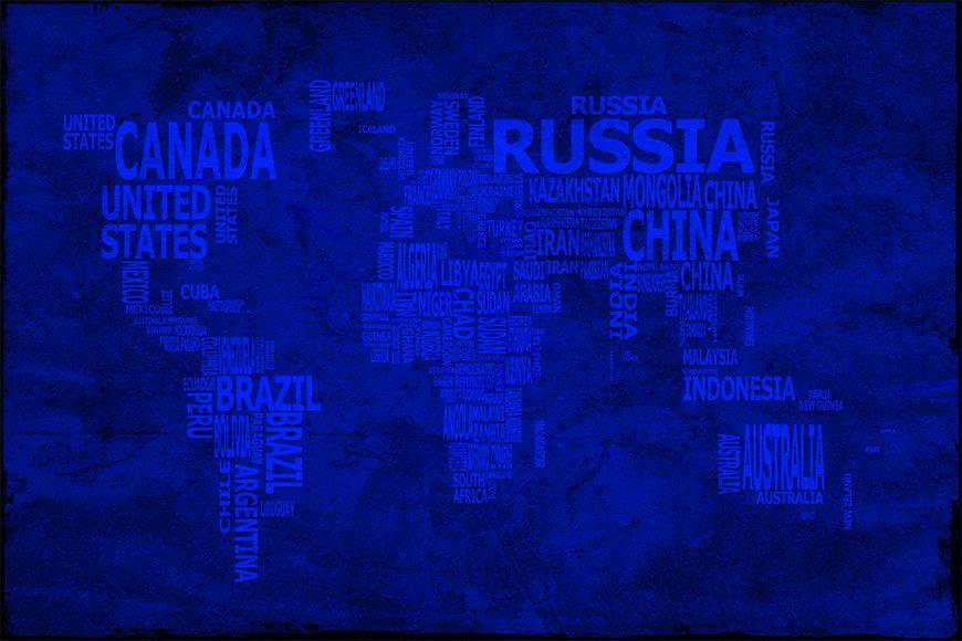 Vlies-Tapete Weltkarte 10 ab 120x80cm