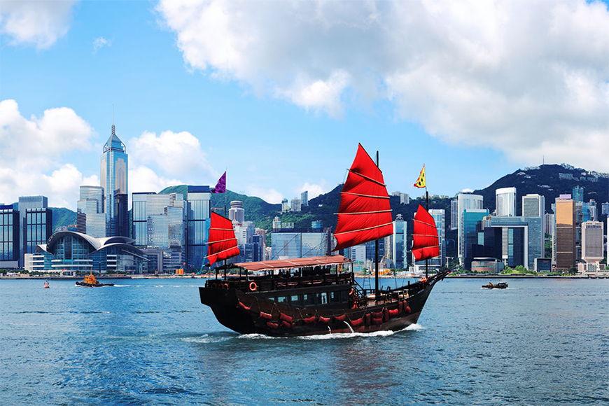 Vliestapete Hongkong Boat ab 120x80cm