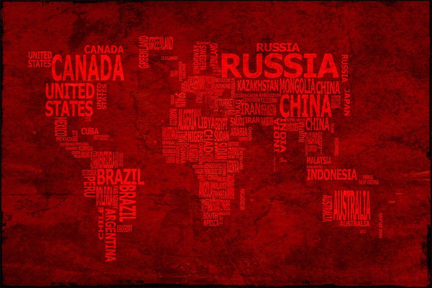 Vliestapete Weltkarte 18 in 6 Größen